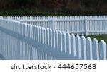 white picket fence   Shutterstock . vector #444657568