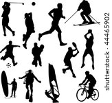 recreation sport silhouettes  ... | Shutterstock .eps vector #44465902