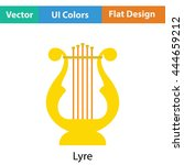 lyre icon. flat color design....