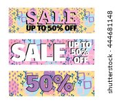 set of sale banners promotion... | Shutterstock .eps vector #444681148