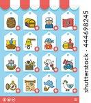 icon set pirate vector | Shutterstock .eps vector #444698245