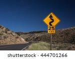 speed limit traffic sign 25 mph ... | Shutterstock . vector #444701266