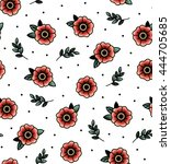 seamless pattern with swallows | Shutterstock .eps vector #444705685