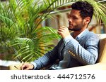 portrait of an handsome... | Shutterstock . vector #444712576