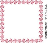 cute frame made of colored... | Shutterstock . vector #444713566
