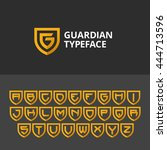 logo shield in the form of the... | Shutterstock .eps vector #444713596