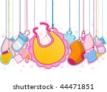 baby objects on strings   vector | Shutterstock .eps vector #44471851