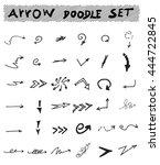 vector hand drawn arrows set... | Shutterstock .eps vector #444722845