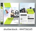 brochure design template vector.... | Shutterstock .eps vector #444736165