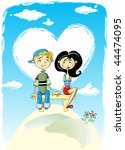 heart valentines day background ...   Shutterstock .eps vector #44474095