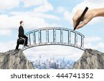 success concept with hand... | Shutterstock . vector #444741352