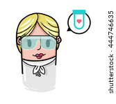medical avatar vector... | Shutterstock .eps vector #444746635