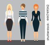 women in office clothes....   Shutterstock .eps vector #444749542