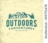 vintage hand drawn outdoor...   Shutterstock .eps vector #444751678