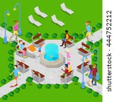 Isometric City Park With...