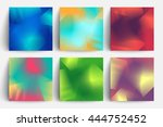 line halftone backgrounds set.... | Shutterstock .eps vector #444752452