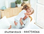 happy family mother and child... | Shutterstock . vector #444754066
