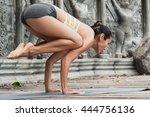 Asian Young Woman Doing Yoga I...