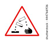 corrosive sign. warning sign.... | Shutterstock .eps vector #444766936