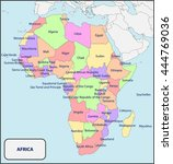 political map of africa with... | Shutterstock .eps vector #444769036