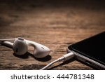headphone and phone media... | Shutterstock . vector #444781348