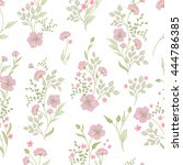 small flower pattern. vintage... | Shutterstock .eps vector #444786385