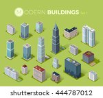 skyscraper logo building icon.... | Shutterstock .eps vector #444787012