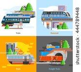 rail transport 2x2 design... | Shutterstock .eps vector #444789448