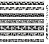 old greek border designs vector ... | Shutterstock .eps vector #444789592
