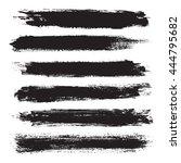 grunge banner set. black grunge ... | Shutterstock .eps vector #444795682