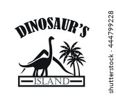 dinosaur's island | Shutterstock .eps vector #444799228