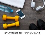 sport. outfit for exercises.... | Shutterstock . vector #444804145