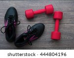 sport. outfit for exercises.... | Shutterstock . vector #444804196