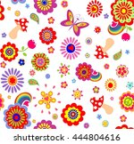 childish funny wallpaper with... | Shutterstock . vector #444804616