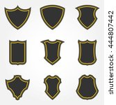 heraldic shield icon set of... | Shutterstock .eps vector #444807442