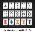 poker cards club set   Shutterstock .eps vector #444811186