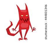 vector cartoon image of funny... | Shutterstock .eps vector #444831346