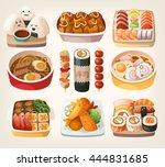 set of realistic illustrations... | Shutterstock .eps vector #444831685