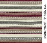 uncommon ethnic pattern.... | Shutterstock .eps vector #444837166