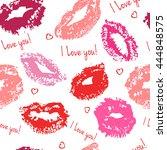 mark of kiss. world kissing day....   Shutterstock . vector #444848575