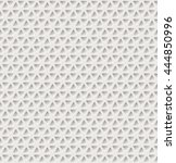 triangle holes pattern. vector... | Shutterstock .eps vector #444850996