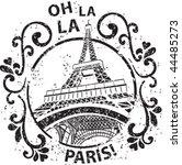 Decorated Paris Stamp