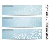 set of modern science banners.... | Shutterstock .eps vector #444859612