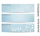 set of modern science banners....   Shutterstock .eps vector #444859612