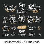 save the date collection with... | Shutterstock .eps vector #444859936