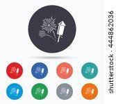 fireworks sign icon. explosive...   Shutterstock .eps vector #444862036
