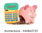 calculating home finances... | Shutterstock . vector #444863725