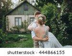 wedding. the groom in a... | Shutterstock . vector #444866155