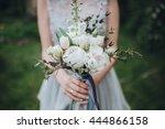 wedding. the bride in a dress... | Shutterstock . vector #444866158