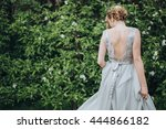 wedding. the bride in a dress... | Shutterstock . vector #444866182